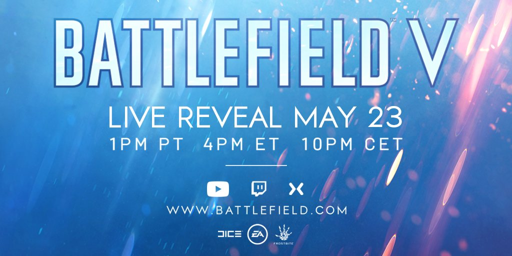 Battlefield V Live Reveal Date and Time Announced