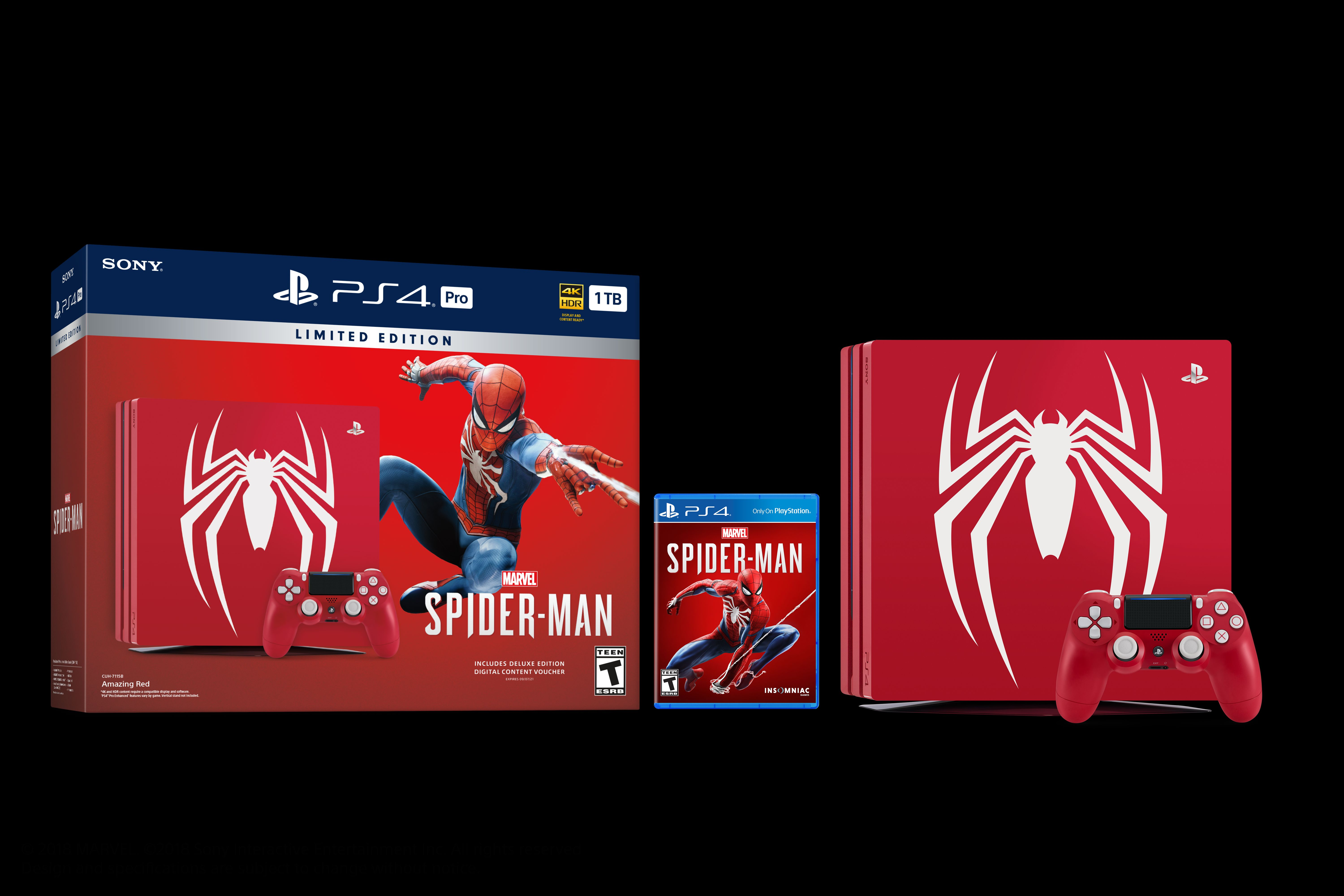 Marvel's Spider-Man Limited Edition PS4 Pro and PS4 Details
