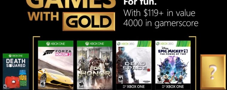 Xbox games with gold August 2018