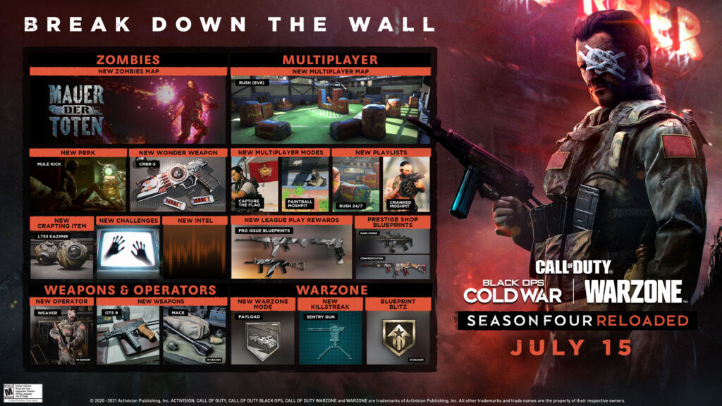 Call of Duty: Black Ops Cold War Season Four Reloaded Soon