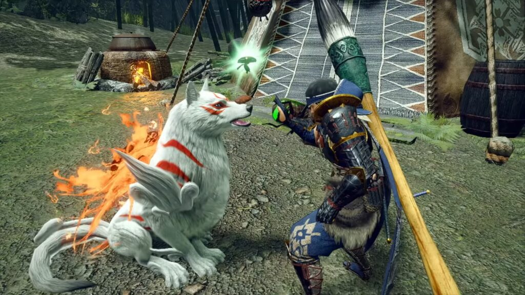 Monster Hunter Rise and Okami Collaboration Event Including New Costume