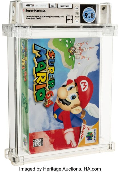Super Mario 64 Sealed Copy Sells For .56 Million USD