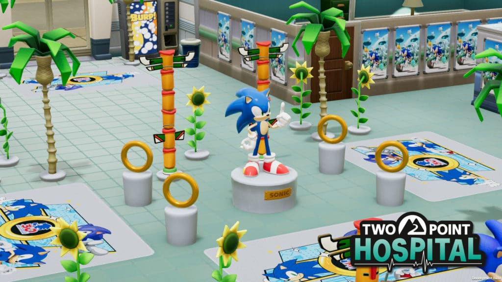 Two Point Hospital adds free Sonic the Hedgehog content